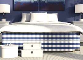 Mattress on blue bbed