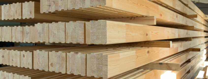 laminated timber beams with adhesives for timber constructions