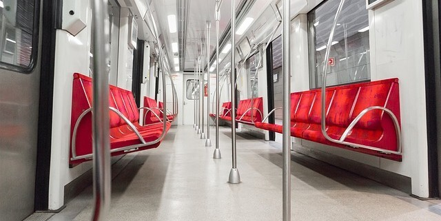 tram interior with automotive and transport adhesives