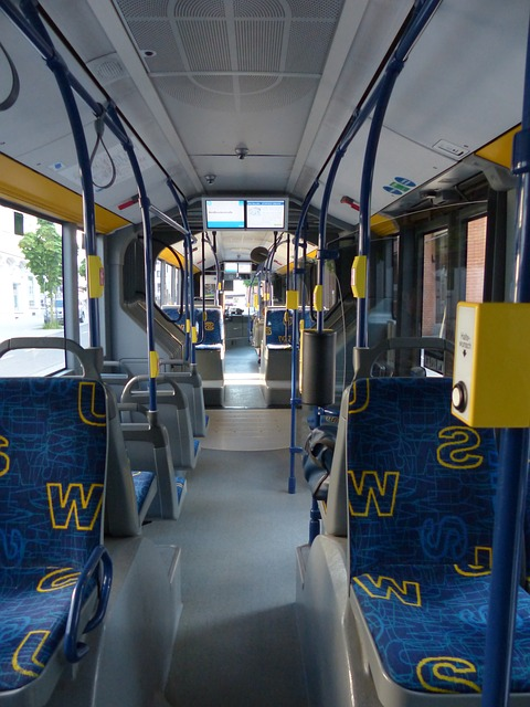interior trim of a bus with adhesives for buses