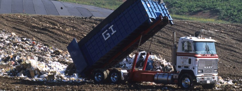 landfill sealants and dump truck