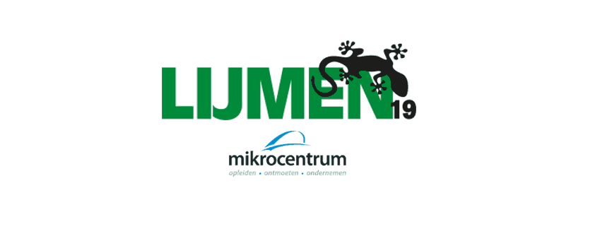 lijm event 2019 logo and Mikkrocentrum logo