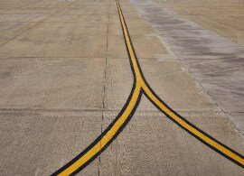 runway with sealant