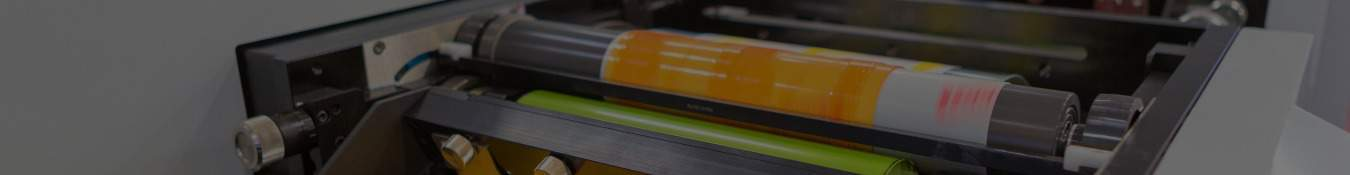 roll coating packaging adhesive application line processing orange adhesive