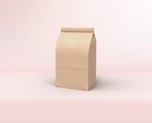 compostable stickers used for closing a paper bag