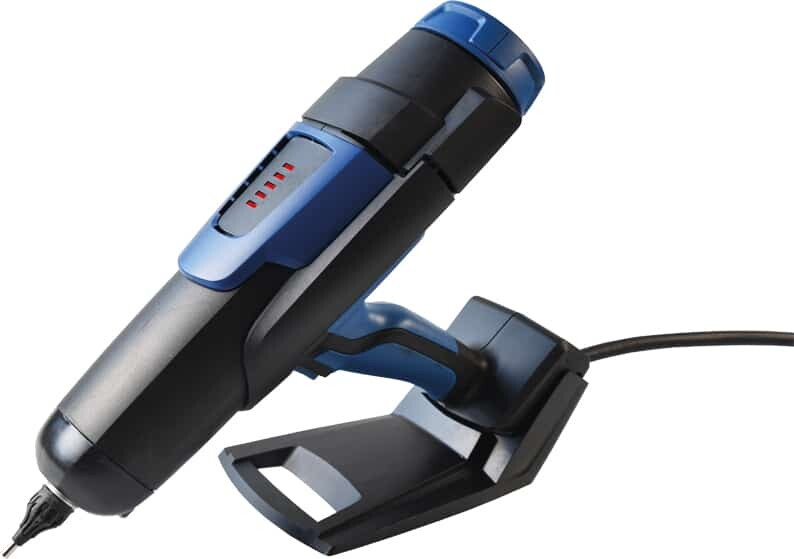 pneumatic glue gun for hot melt adhesives on its stand